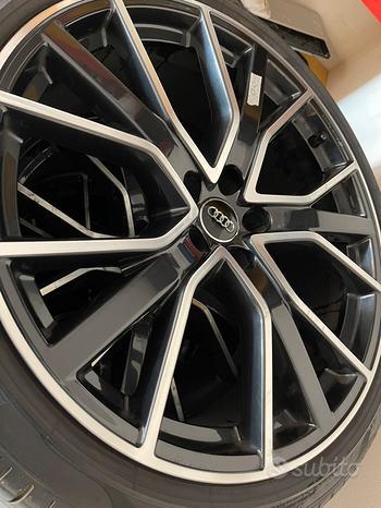 Cerchi e gomme Audi Sport 255 35 21 come nuovi RS