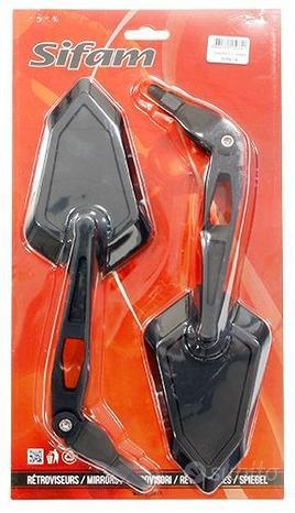 Coppia retrovisori specchietti moto omologati m10