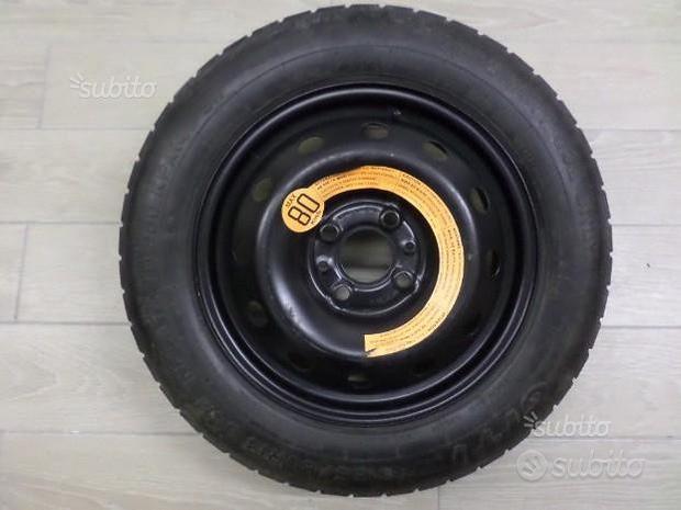 Ruotino di Scorta Fiat 500 4 Fori 14 Pollici