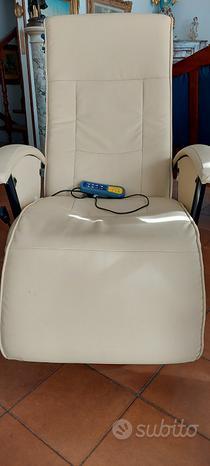 Poltrona reclinabile massaggiante e riscsldante