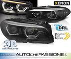 Coppia fanali Xenon 3D neri per Bmw Serie 5 F10/F1