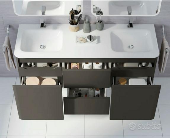 Mobile bagno doppio lavello