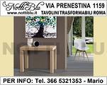 Tavolo Consolle Roma VE104 con 3 ALLUNGHE L= 190cm