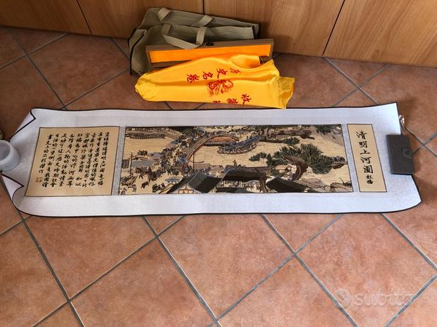 Tela cinese ricamata - 140x40 cm