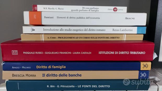 Libri Universitari sul Diritto ed Economia