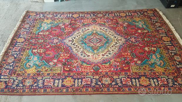 Tappeto persiano originale periziato tabriz 6mq