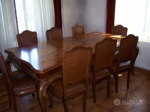 Sala da pranzo stile Chippendale anni 50