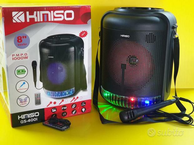 Cassa karaoke microfono incluso pagamento alla con