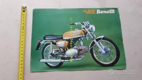 Benelli 125 Sport Special 1974 depliant moto epoca