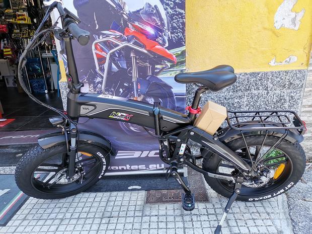 "Bicicletta E-bike FatBike 20"" Nera"