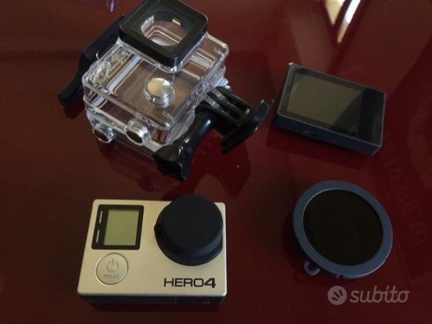 Gopro 4 hero black con monitor e filtro nd