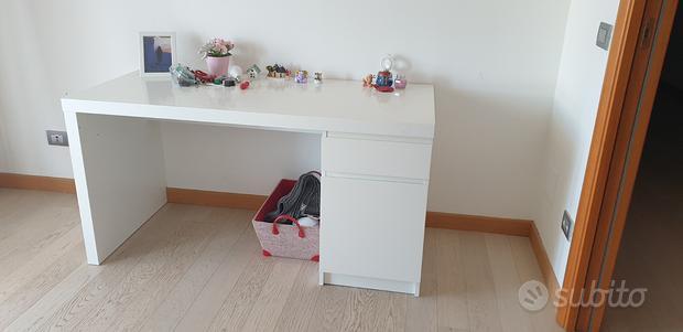 Scrivania Ikea Malm bianca