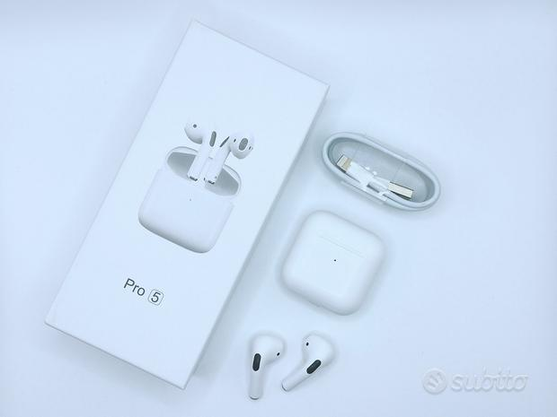 Airpods pro 5 per android- ios bianche (NUOVO)