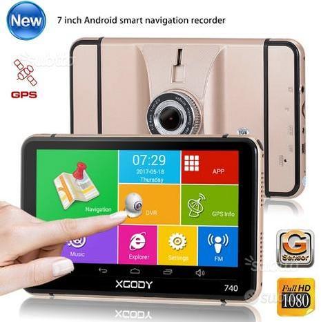 ANDROID navigatore dash cam GPS DVR USB SD