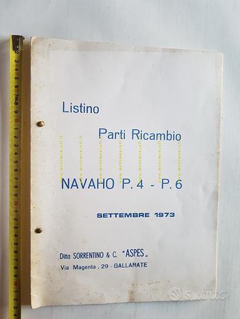 Aspes 50 Navaho P4-P6 1973 catalogo ricambi telaio