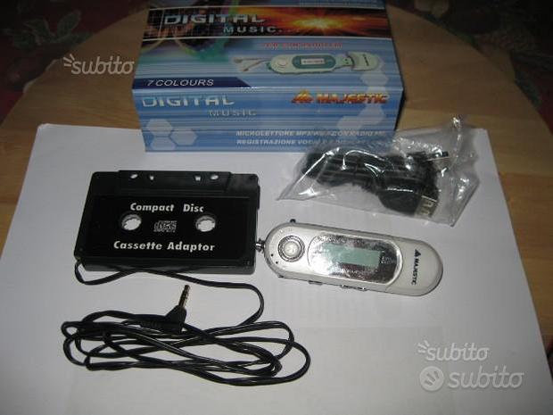 Lettore mp3 con adattatore cassette