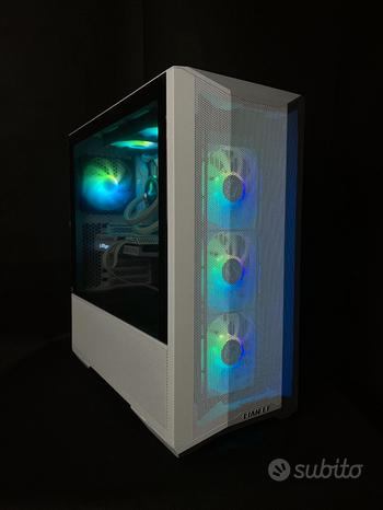 Pc gaming white 5600x rtx3060 1tb ssd 16gb ram