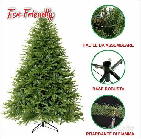 Albero di natale pino realistico verde 210cm