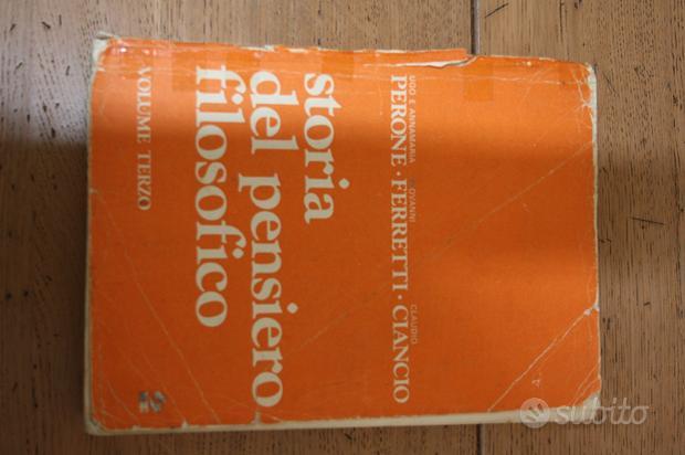 STORIA DEL PENSIERO FILOSOFICO - volume terzo