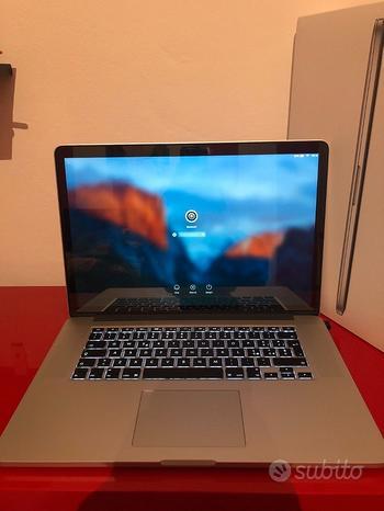 MacBook Pro (Retina,15,metà 2015) 2,2 Ghz, i7, 25