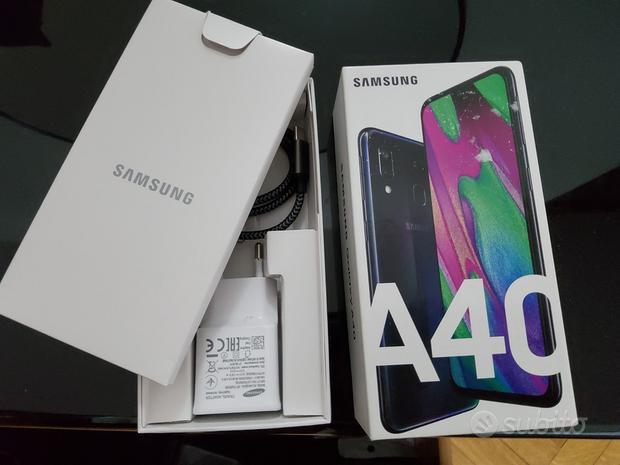 Samsung A40 black dual sim nuovo