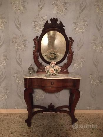 Specchiera Toilette pettiniera Luigi Filippo