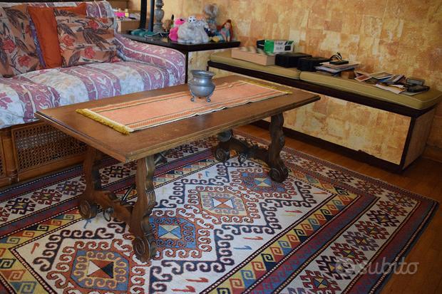 Tavolino da salotto in stile spagnolo 112x53x46h