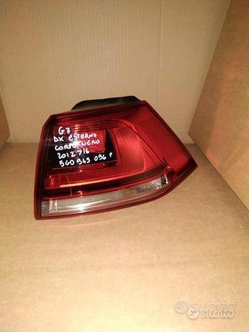 Fanale posteriore esterno dx per volkswagen golf 7
