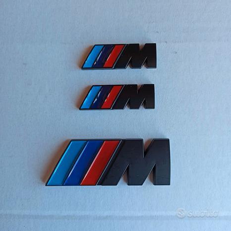 Set emblema Bmw Msport Nero laterali + posteriore