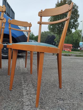 Set sei sedie teak design anni 60 scandinavo