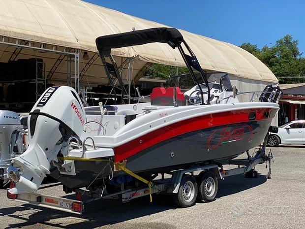 Barca SAVER 750 WA con HONDA 250 D demo fiera