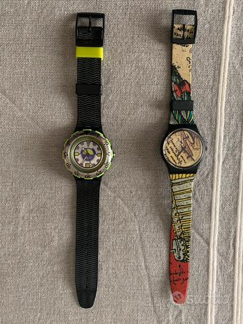 2 orologi originali swatch da collezione rari