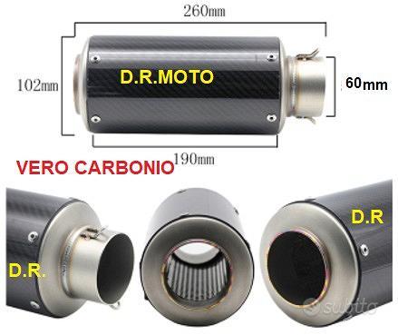 46.01 scarico VERO CORTO CARBONIO 26 CM RACING