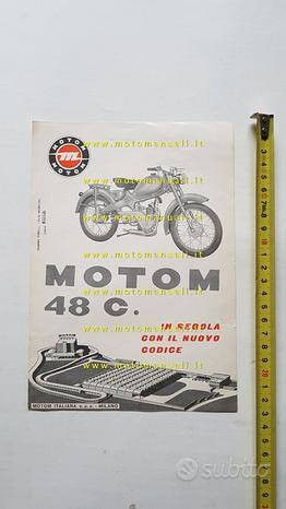 Motom 48 C 1960 depliant originale ciclomotore