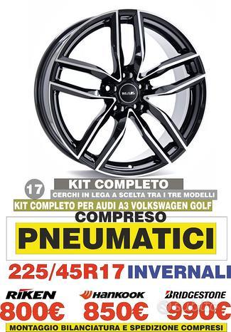 Cerchi In Lega Volkswagen Golf 6 7 A3 17 Gomme Inv