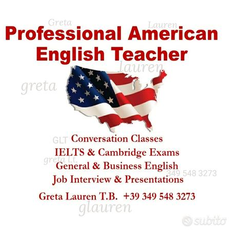 Inglese Insegnante Madrelingua 28 anni esperienza