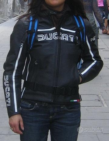 Giubotto moto pelle donna Ducati tg44
