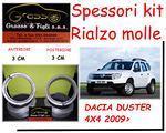Kit spessori rialzo molle Dacia Duster 4x4 2009