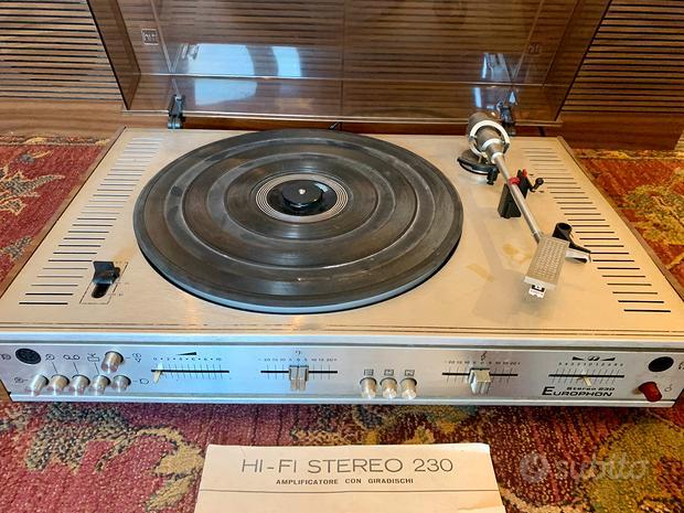 Europhon Hi-Fi Stereo 230 amplificatore giradischi