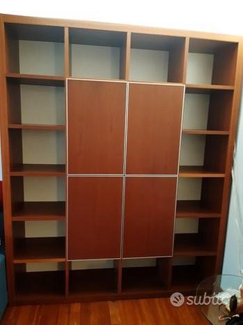 Libreria in ciliegio + mobile TV coordinato