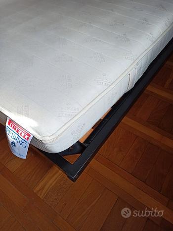 Rete con doghe 187x187 e materasso bedding Pirelli