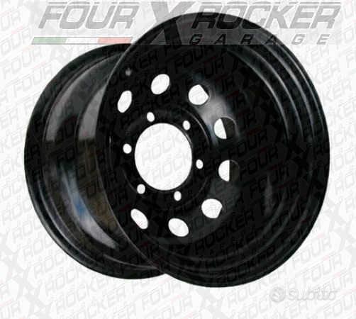 Cerchio scampanato modular nero 6 fori 10x16 et-44