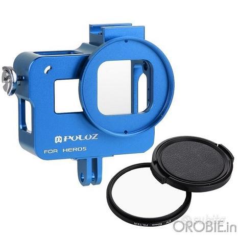 Frame alluminio per GoPro 5 6 7 e filtri 52mm