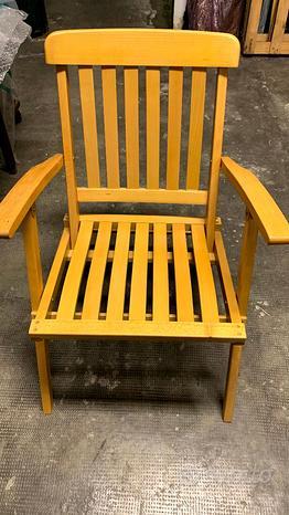 Sedie in legno massello trattato pieghevoli nuove