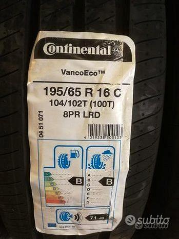 Gomme pneumatici estivi continental 195/65 r16