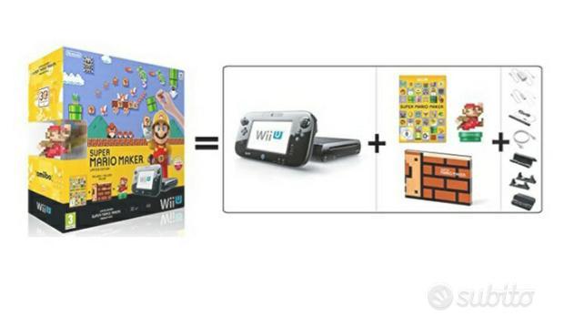 Nintendo Wii u console +vari accessori come nuova