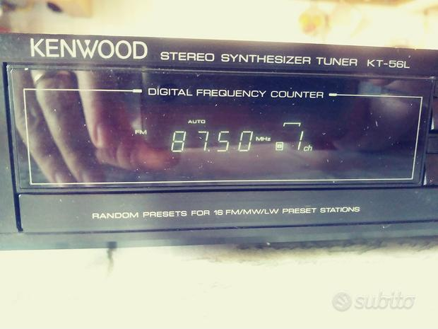Kenwood tuner KT 56L AM FM stereo come nuovo