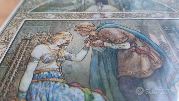 Pagina di libro antico dipinta a mano