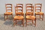 Set 6 sedie in noce stile luigi xvi
