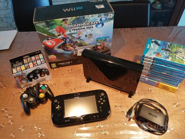 WII U 32GB nera + 10 giochi e controller gamecube